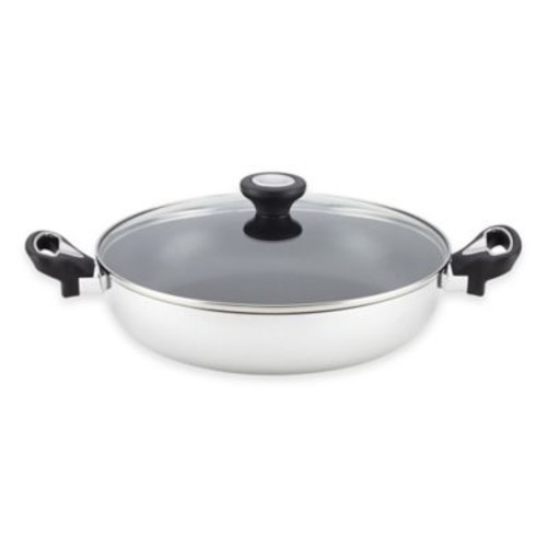 Farberware New Traditions Aluminum Nonstick 11-Inch Covered Everything Pan