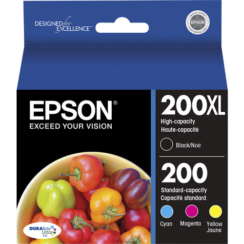 Epson - 200XL 4-Pack High-Yield Ink Cartridges - Cyan/Magenta/Yellow/Black