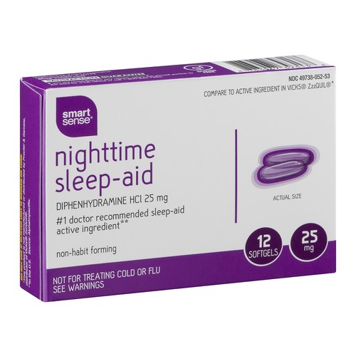 Smart Sense Nighttime Sleep-Aid Softgels - 12 CT