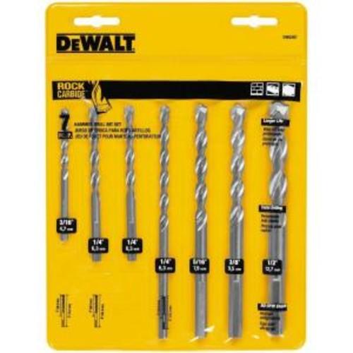 DEWALT Carbide Hammer Drill Bit Set (7-Piece)
