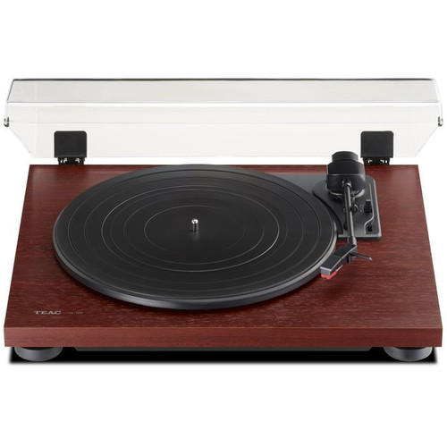 TEAC TN-100-CH Belt-Drive Analog Turntable with Preamp and USB Cherry