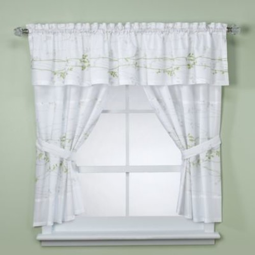 Lantana Taupe Bath Window Valance
