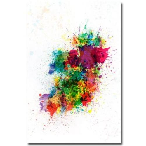 Trademark Fine Art Michael Tompsett 'Ireland Paint Splashes' Canvas Art 22x32 Inches