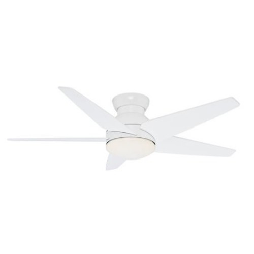 Casablanca Isotope 52 in. Indoor Snow White Ceiling Fan with 4 Speed Wall-Mount Remote