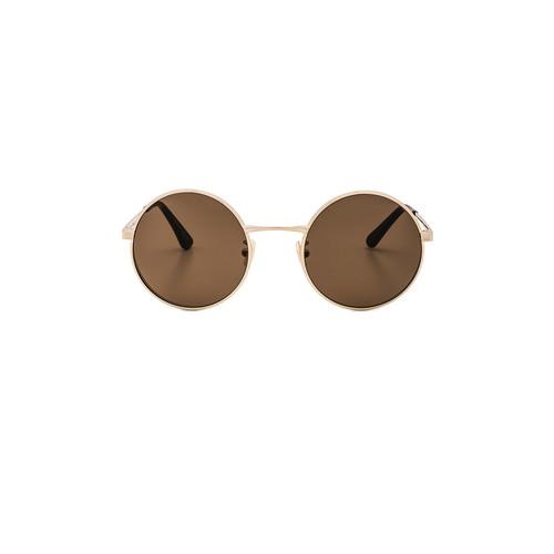 SAINT LAURENT Sl 136 Zero Sunglasses In Antique Gold & Brown