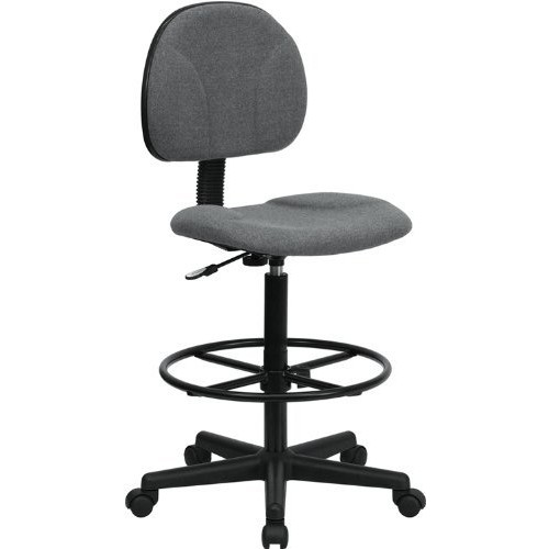 Flash Furniture Gray Fabric Drafting Chair (Cylinders: 22.5''-27''H or 26''-30.5''H)