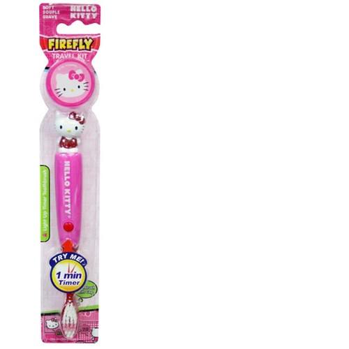 Firefly Hello Kitty Light-Up Kids Timer Toothbrush with Cap, Soft, 1-Count [1-Count, Hello Kitty Light-Up]
