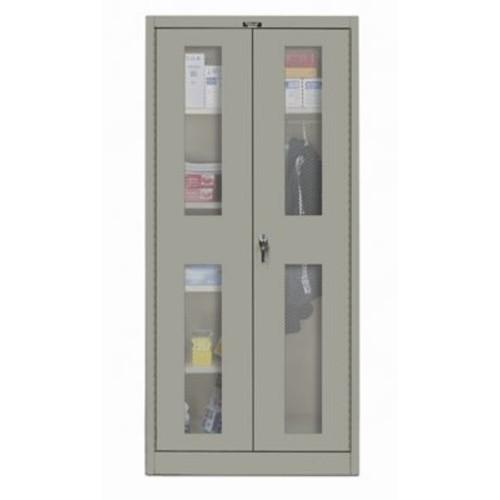 Hallowell 400 Series 72''H x 48''W x 18''D Storage Cabinet; Hallowell Gray
