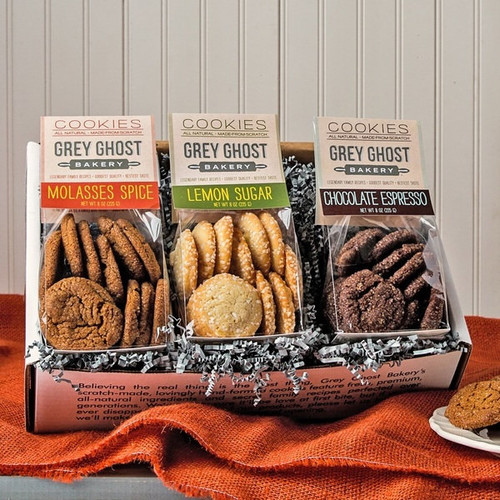 Grey Ghost Bakery Gift Box with Three Varieties - Gift Box