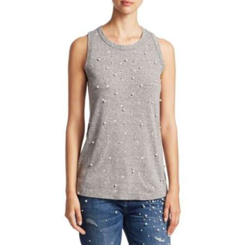 CURRENT/ELLIOTT Embellished Muscle Tee