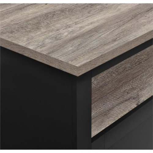 Altra Furniture Carver Square Coffee Table in Black and Sonoma Oak