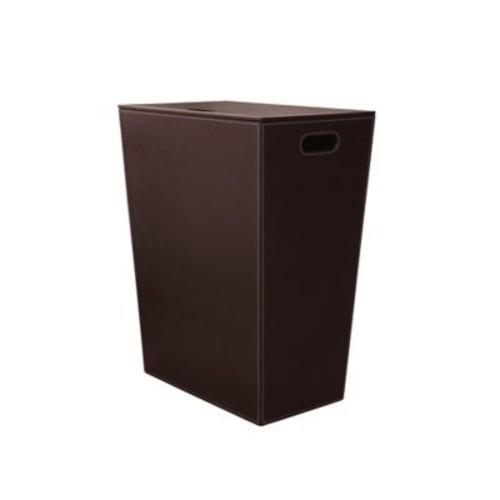 WS Bath Collections Ecopelle Laundry Hamper; Dark Brown