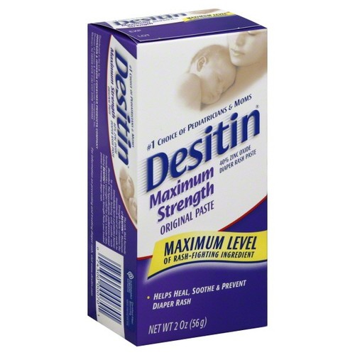 Desitin Diaper Rash Paste,Maximum Strength,Original Paste,2 oz (56 g)