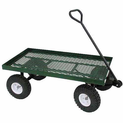 Farm Tuff Metal Deck Wagon, 20-Inch by 38-Inch, Green