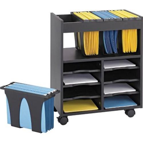 Safco Go Cart Mobile File Cart Metal Mobile File, Black