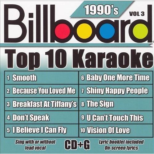 Billboard Top 10 Karaoke: 1990's, Vol. 3 [CD]