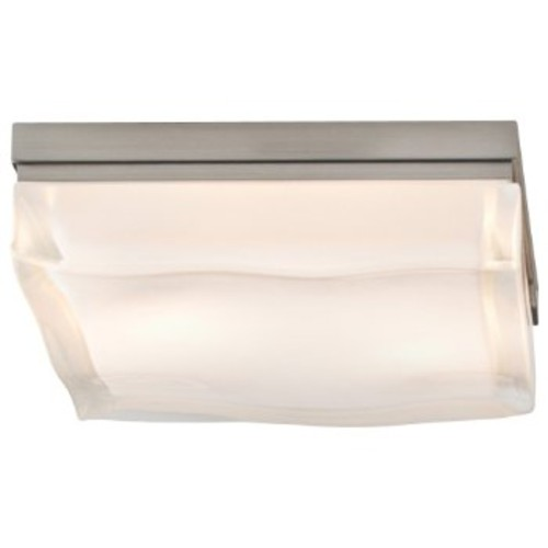 Fluid Square Large Flushmount [Shade Color : White; Light Option : Halogen; Finish : Chrome]