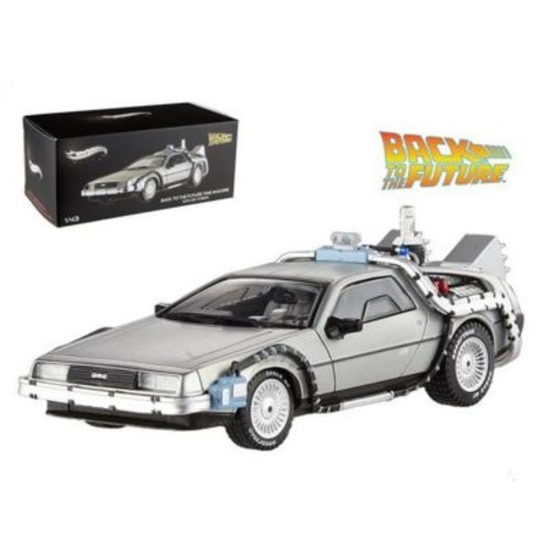 Hot Wheels Delorean Dmc-12 Back To The Future Time Machine With Mr. Fusion 1-43 Diecast Model Car (Dtdp1907)