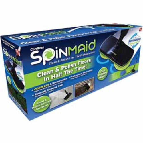 As Seen On TV Spin Maid - Rechargeable, Cordless, Powered Floor Cleaner Scrubber Polisher Mop