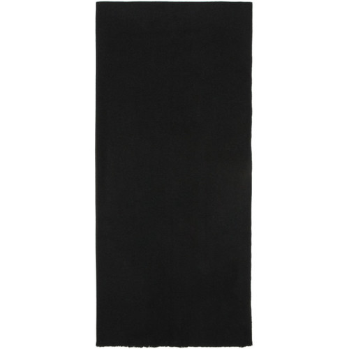 LEMAIRE Black Large Wool Scarf