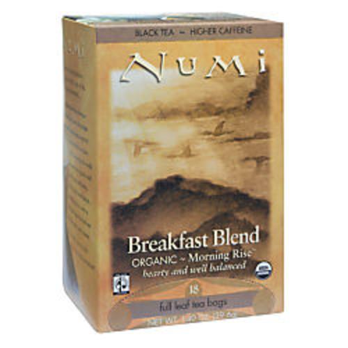 Numi Organic Breakfast Blend Black Tea, Box Of 18