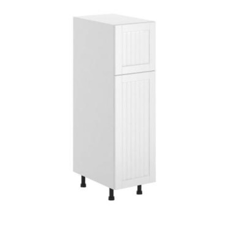 Eurostyle Odessa Ready to Assemble 15 x 49 x 24.5 in. Pantry/Utility Cabinet in White Melamine and Door in White