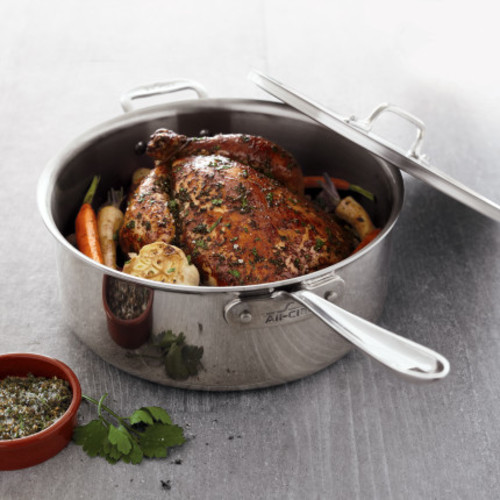 All-Clad Stainless Steel Deep Saut Pan, 6 qt.