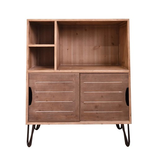 Brown Wood Storage Cabinet