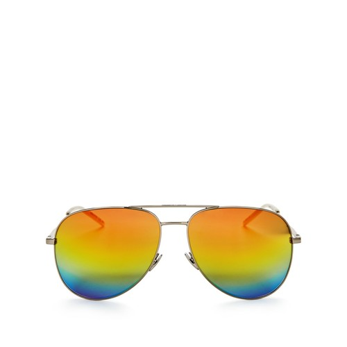 Classic Brow Bar Mirrored Aviator Sunglasses, 59mm
