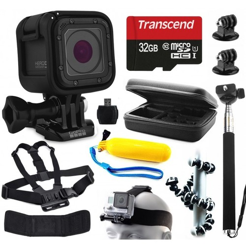 GoPro HERO5 Session Camera + Advanced Accessory Bundle Kit For Action Pack