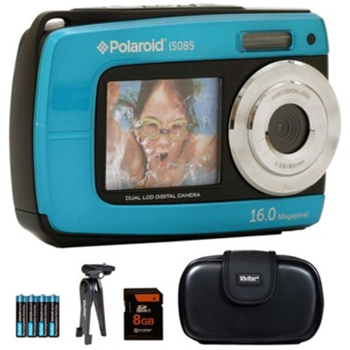 Vivitar iS085 16MP Waterproof Digital Camera - Teal - 8GB Accessory Kit