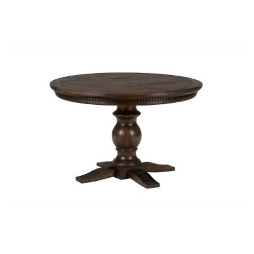Geneva Hills Round to Oval Dining Table Wood/Rustic Brown - Jofran Inc.