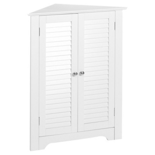 RiverRidge Ellsworth Collection 3-Shelf Corner Cabinet - White