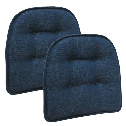 The Gripper Non-Slip Omega Tufted Chair Cushions, Set of 2