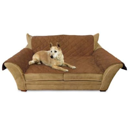 K&H Pet Products Furniture Cover - Protects your furniture from pet hair [Mocha, Standard Packaging, Loveseat]