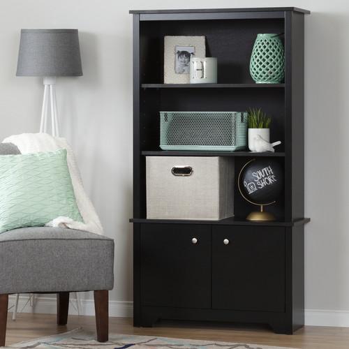 South Shore Vito 3-Shelf Bookcase with Doors