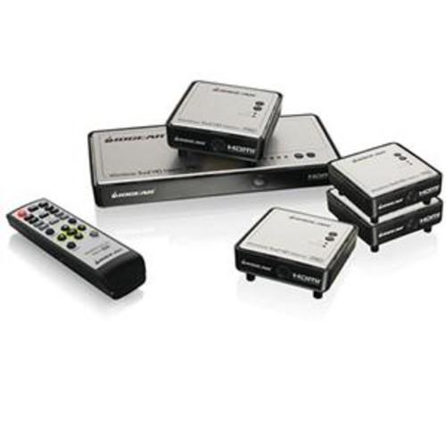 IOGEAR Long Range Wireless 5x2 HDMI Matrix PRO with 3x Additional Receiver GWHDMS52MBK4