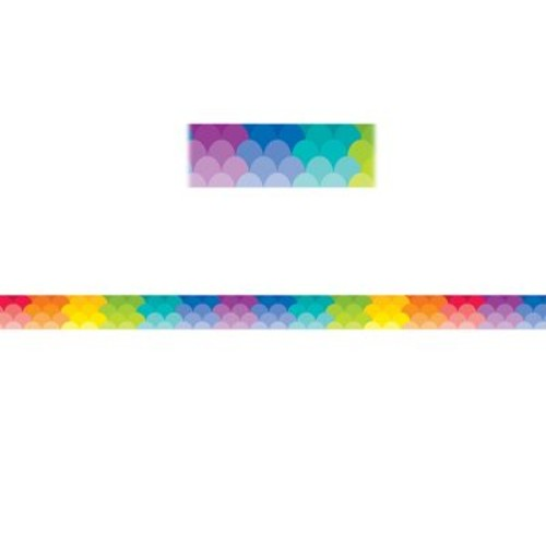 Creative Teaching Press CTP8392, Rainbow Scallops Magnetic Decor Strips