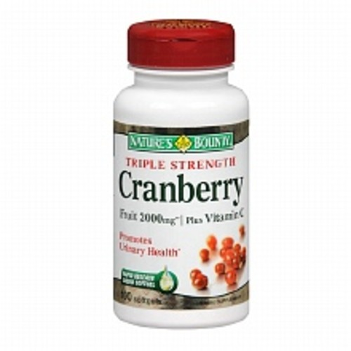 Nature's Bounty Triple Strength Cranberry 1680 mg Herbal Supplement Softgels