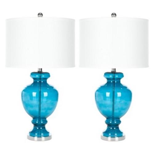 Safavieh Morocco Blue Glass Table Lamp - Morocco Blue (Set of 2)