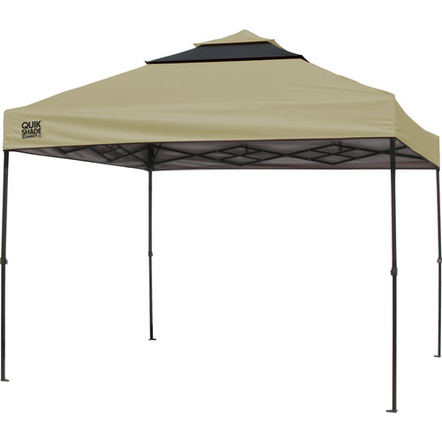 Quik Shade SX100 10x10 Instant Canopy - Taupe/Graphite