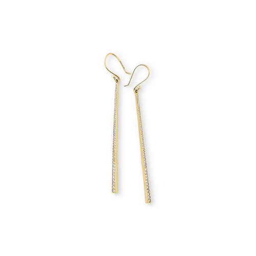 18k Glamazon Stardust Long Earrings with Diamonds