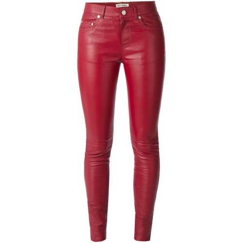 SAINT LAURENT Leather Skinny Trousers