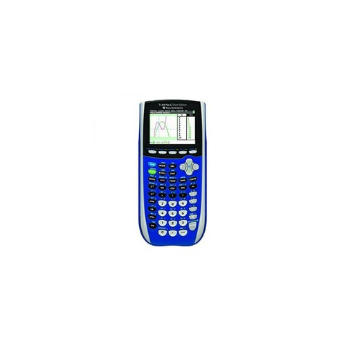 Texas Instruments TI-84 Plus C Silver Edition Graphing Calculator with Color Display (Blue)