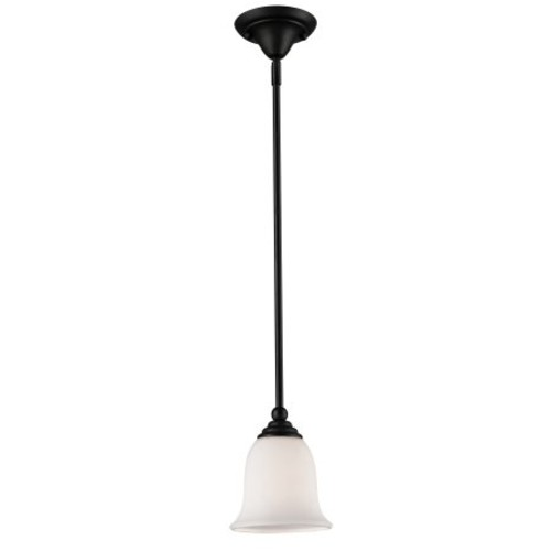 Lagoon 1 Light Mini Pendant in Matte Black