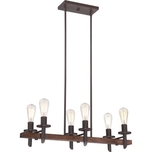 Quoizel TVN232DK 6-Light Tavern Island Chandelier in Darkest Bronze