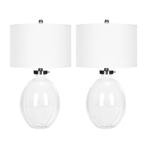 Safavieh LIT4067A-SET2 Clear Glass Table Lamps (Set of 2)