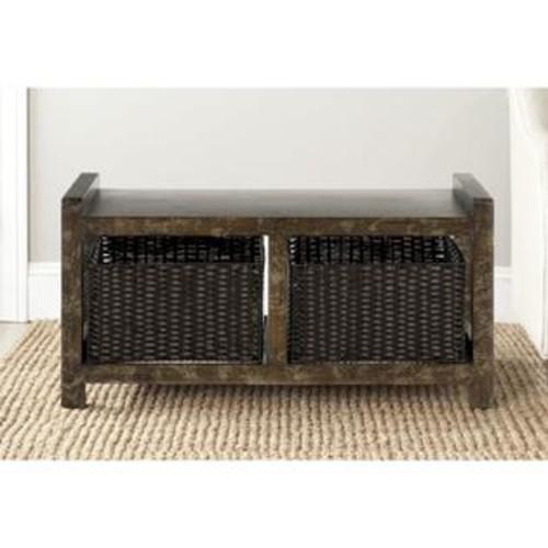 Safavieh Arnold Dark Brown Storage Console Table