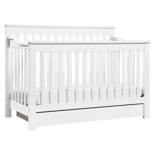 DaVinci Piedmont 4-In-1 Convertible Crib with Toddler Rail in White