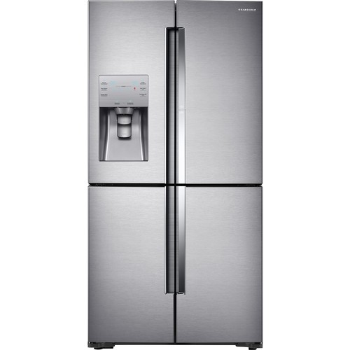 Samsung - ShowCase 22.04 Cu. Ft. 4-Door Flex French Door Counter-Depth Refrigerator - Stainless steel